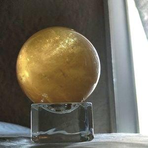 Honey Calcite Sphere